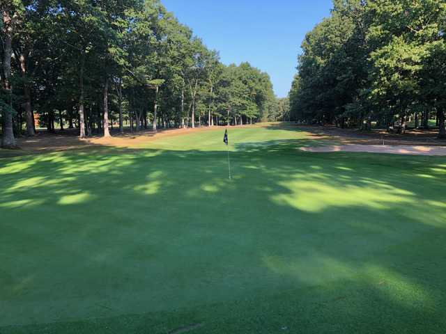 Looking back from the 7th green at Rockland Golf Course.
