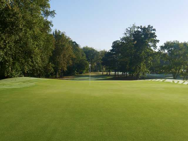 Looking back from a green at Cleveland Country Club.
