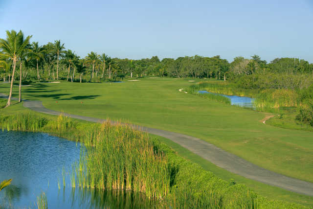 View from the 13th tee at The Lakes Barcelo Golf Course.