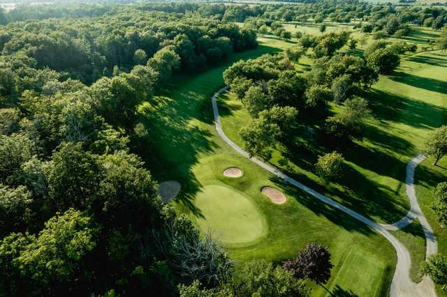 Aerial view from Port Colborne Country Club.