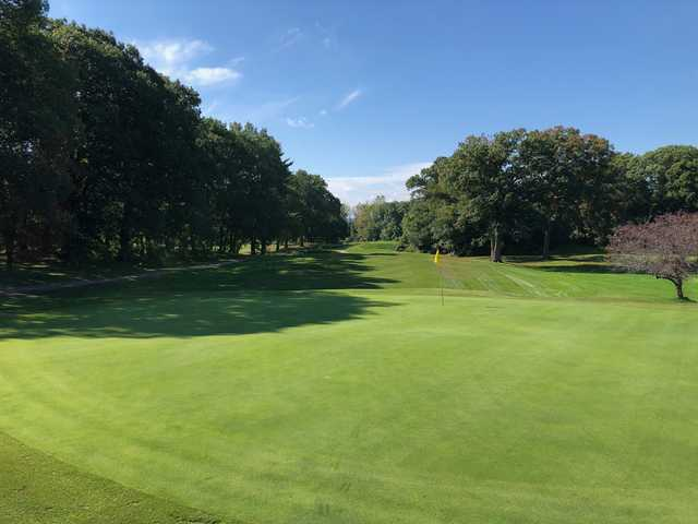 Looking back from the 8th green at Unicorn Golf Course.