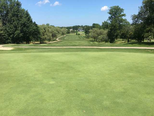 Looking back from the 3rd green at Crystal Lake Golf Club.