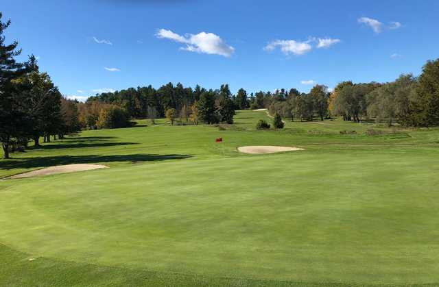 View of the 17th hole at Crystal Lake Golf Club.