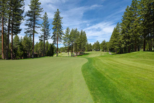 View of the 3rd green from the Championship course at Incline Village Golf Resort