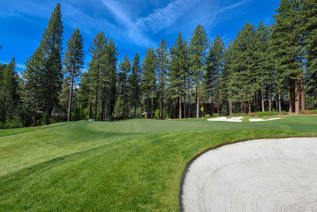 View of the 4th green from the Championship course at Incline Village Golf Resort.