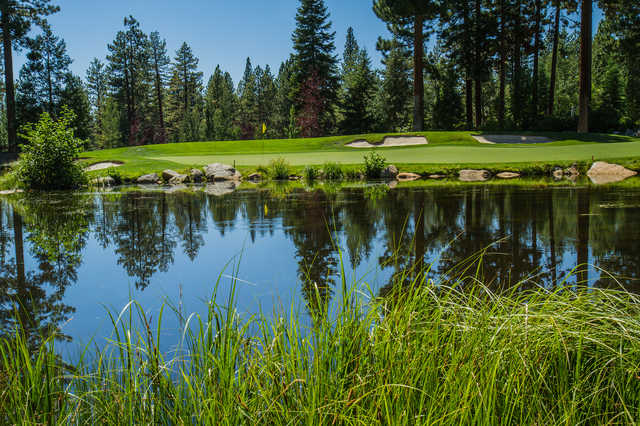 View of the 14th green from the Championship course at Incline Village Golf Resort.