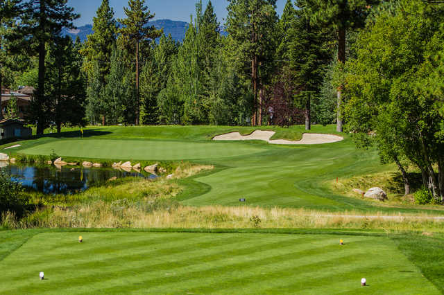View from the 14th tee box at Incline Village Golf Resort Championship Course.