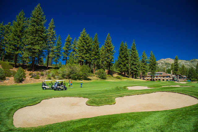 View of the 18th green from the Championship course at Incline Village Golf Resort