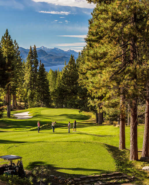View from the 3rd tee box at Incline Village Golf Resort Mountain Course.