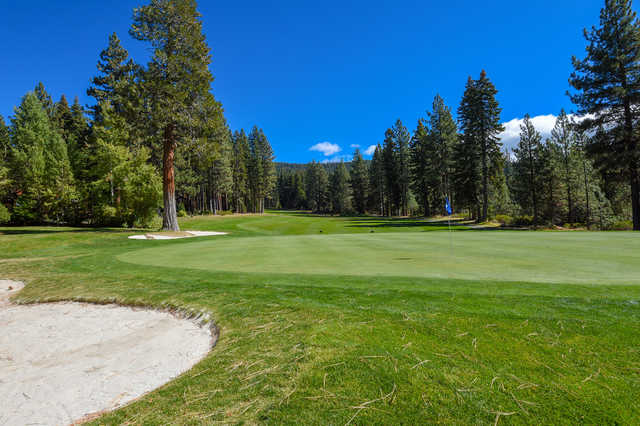 View of the 5 th green from the Moutain course at Incline Village Golf Resort.
