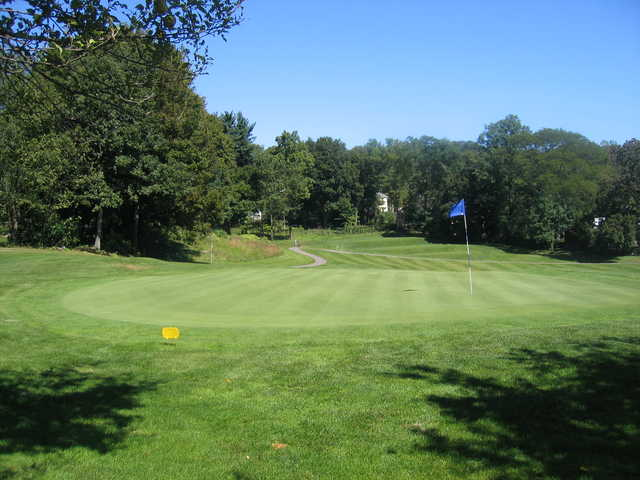 View of a green from Newton Commonwealth Golf Course.