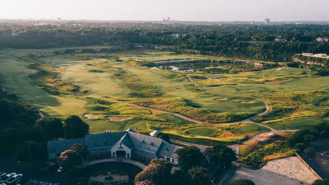 Aerial view from The Quarry Golf Course.