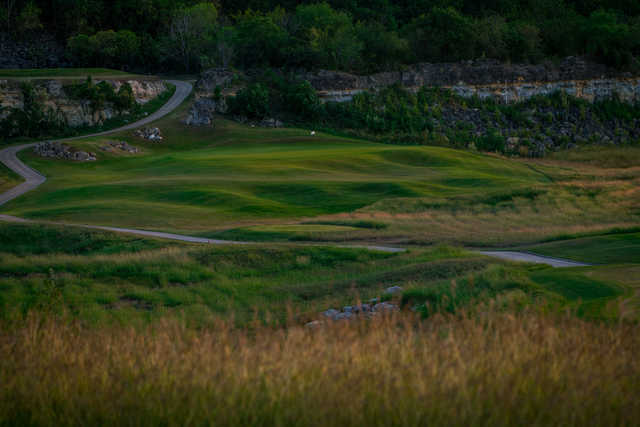 View of a green at The Quarry Golf Course.
