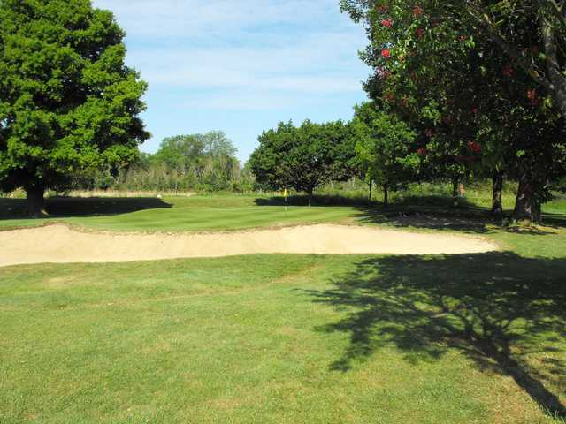 A view of the 5th green at Maldon Golf Club.