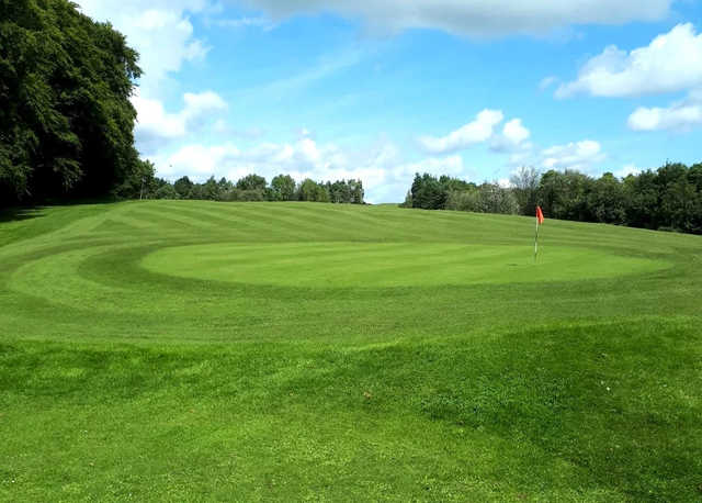 A view of the 14th hole at Painswick Golf Club.