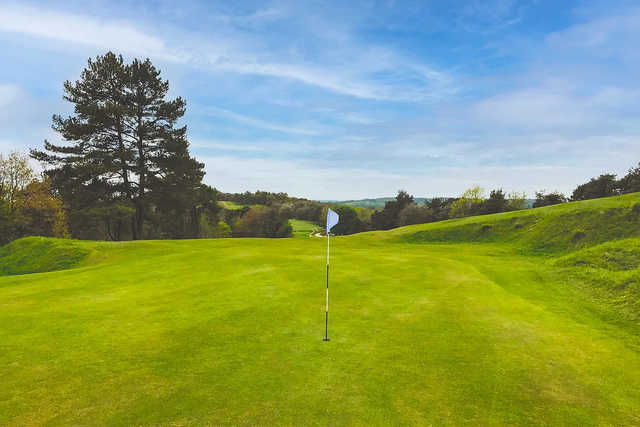 A view of hole #4 at Painswick Golf Club.