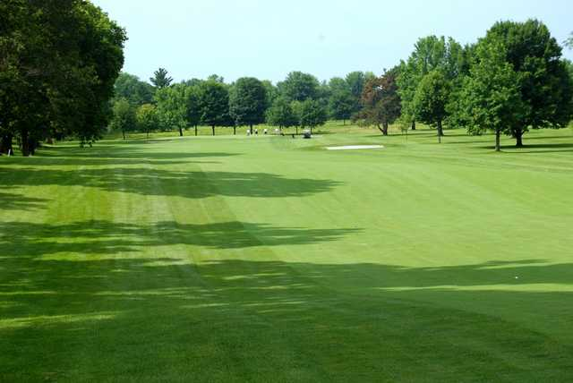 A view of the 4th fairway, the longest hole on the Gem City Golf Club