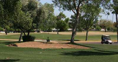 A view o sand trap at Sun City South Golf Course