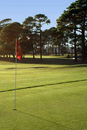 A view of the 13th hole at Beachwood Golf Club