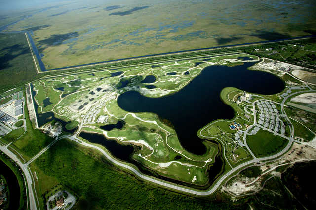 Aerial view from Osprey Point Golf Club