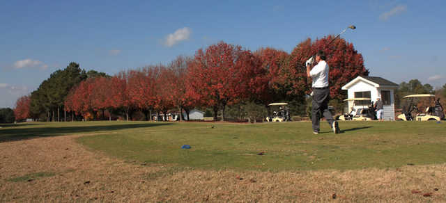An autumn view from tee at Reedy Creek Golf Course