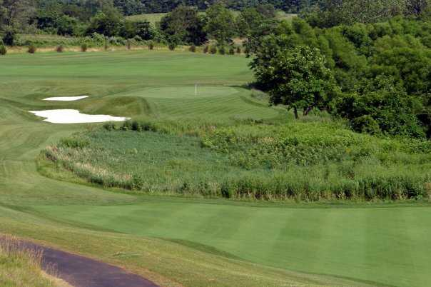 A view of green #18 at Maryland National Golf Club