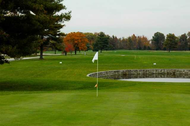 A view of green #1 at Westwood Golf Course