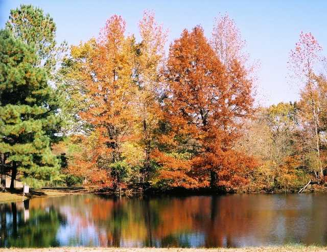 A beautiful autumn view from Wingfoot Golf Course