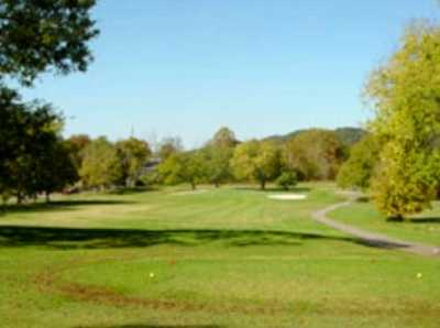 A view from a tee at Harpeth Hills Golf Course