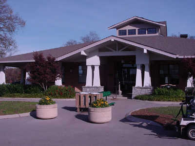 A view of the clubhouse at McCabe Golf Course
