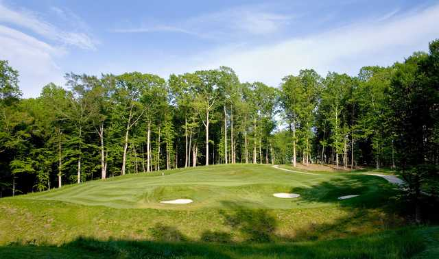 A view of the 14th green at Colonial Heritage Club
