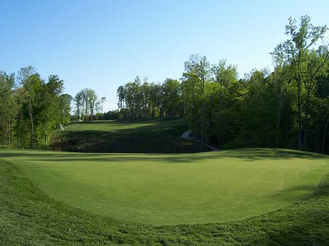 A view of the 16th green at Colonial Heritage Club