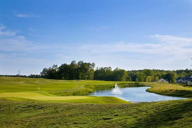 A view of the 18th green at Colonial Heritage Club