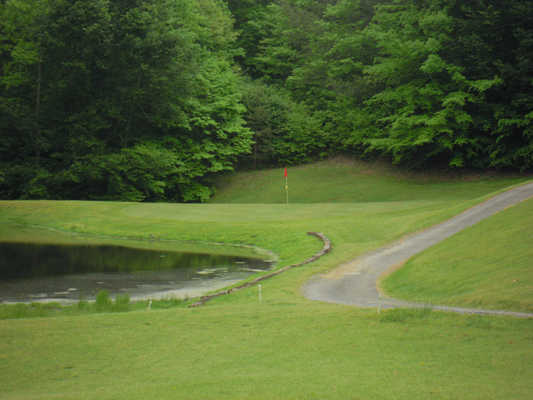 A view of hole #2 at Stonewall Golf Course