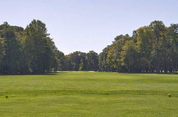 A view of the par-5 11th hole at Mulligan's Pointe
