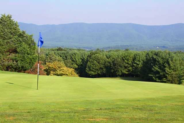 A view of a green at Boutetourt Golf & Swim Club