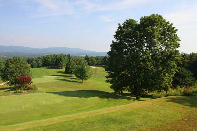 A view of the practice putting green at Boutetourt Golf & Swim Club
