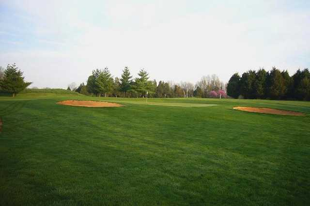 A view of hole #5 at Brambleton Regional Park Golf Course