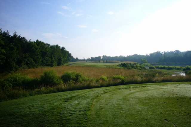 A view from tee #18 at Brambleton Regional Park Golf Course