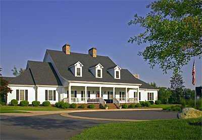 A view of the clubhouse at Westfields Golf Club