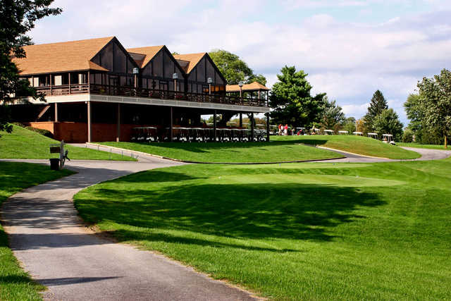 A view of the clubhouse at Shenandoah Valley Golf Club