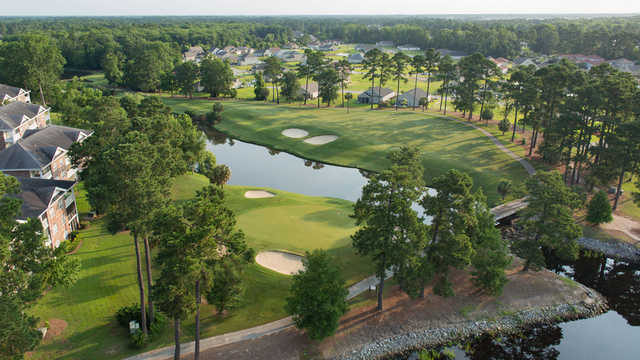 Aerial view of the 4th hole at Cypress Course from Arrowhead Country Club