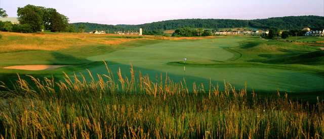 A view of the 11th hole at Raspberry Falls Golf & Hunt Club