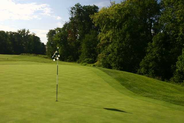 A view of the 17th hole at South Riding Golf Club