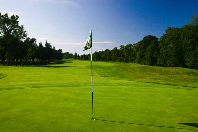 A view from the 18th green at South Riding Golf Club.