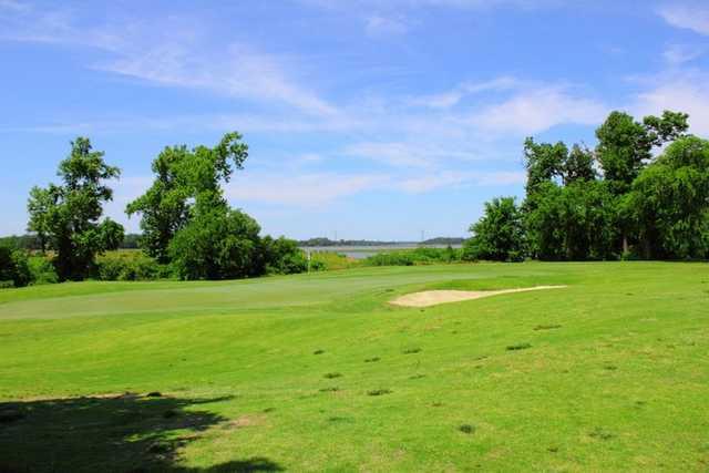 A view of green #3 at Nansemond River Golf Club