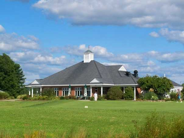 A view of the clubhouse at Hobbs Hole Golf Course.
