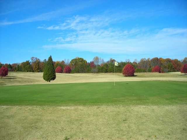 A view of a hole at Wolf Creek Golf Course
