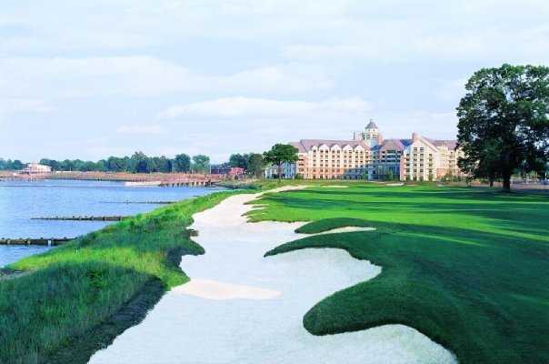 A view of the 18th hole at River Marsh Golf Club - Hyatt Chesapeake Bay