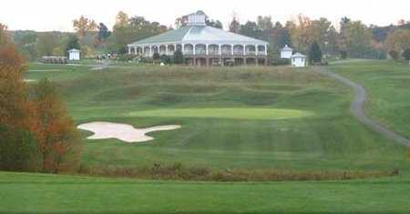 A view of the clubhouse at Little Bennett Golf Course